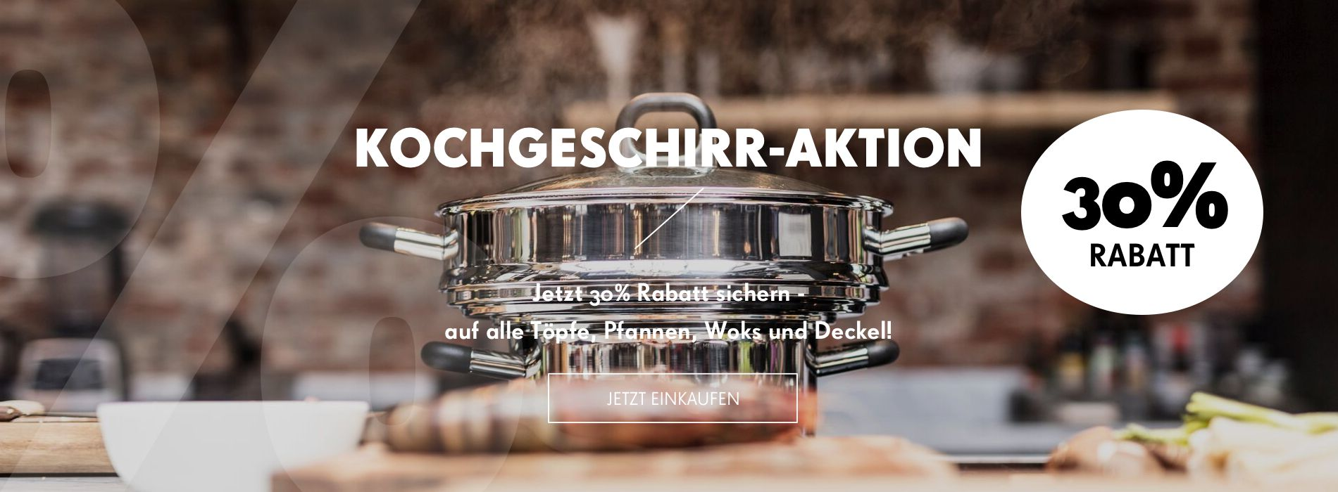 Töpfe, Pfannen, Woks und Deckel von Carl Mertens 30% reduziert!