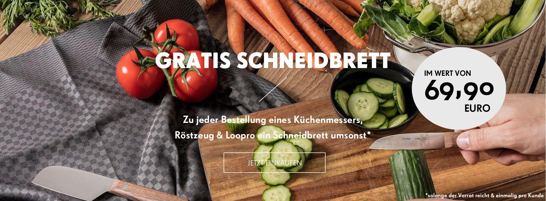 Ein Corta Schneidbrett im Wert von 69,90€ gratis im Carl Mertens Onlineshop!